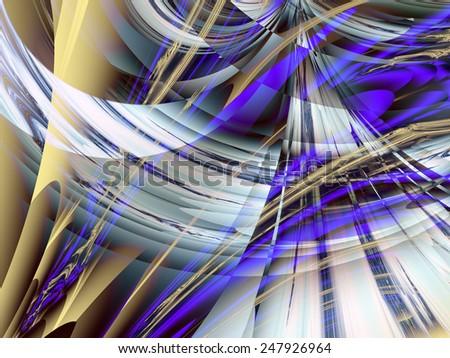 Fractal background from intertwining lines and layers of pastel colors.  - stock photo