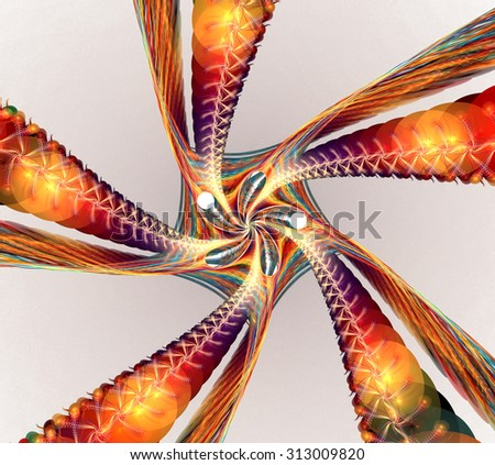 Fractal background with abstract spiral shapes. High detailed image. - stock photo