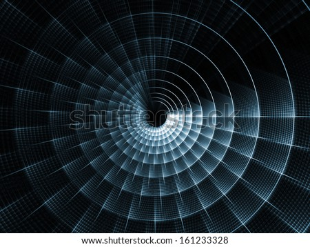 Fractal Burst series. Interplay of fractal radial burst pattern on the subject of science, technology and design - stock photo