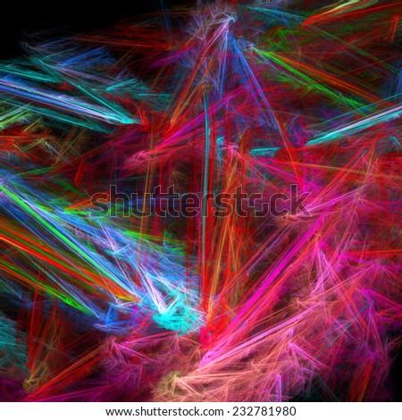 Fractal color fantasy - stock photo