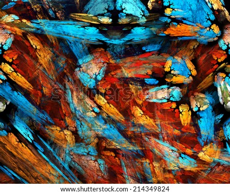 fractal colorful - stock photo