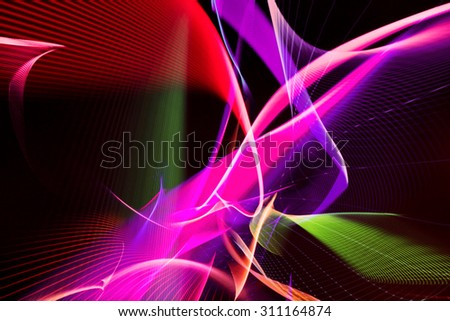 fractal colorful abstract - stock photo