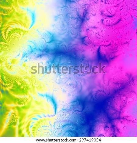 Fractal colorful illustration web background - stock photo