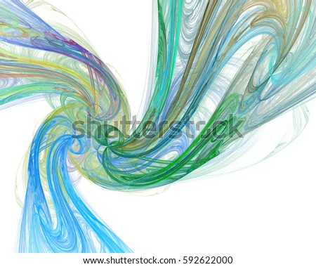 Fractal computer generated illustration of sophisticated spiral. 