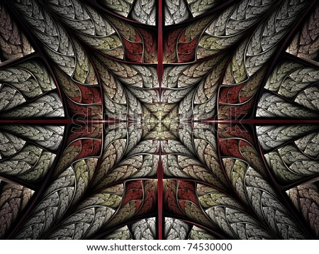 Fractal cross abstraction - stock photo