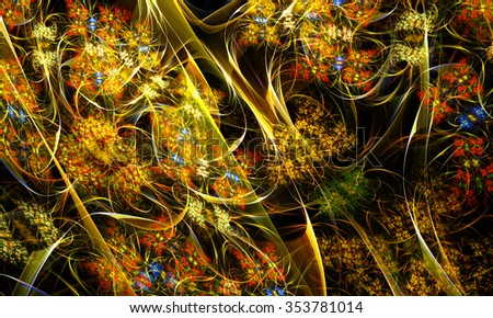 Fractal digital artwork, illustration - stock photo