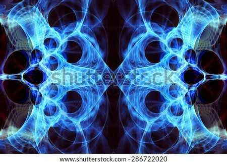 fractal flames background - stock photo