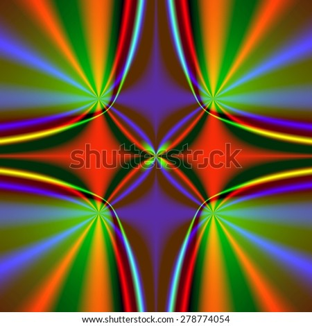 Fractal flower - stock photo