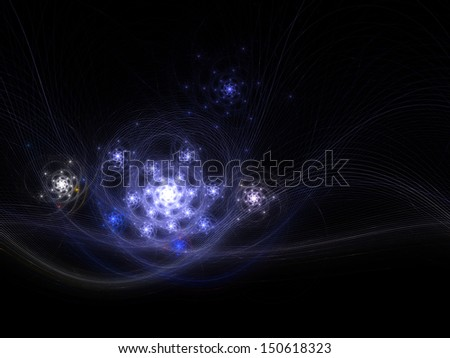 Fractal galaxies in universe, digital artwork for creative graphic design