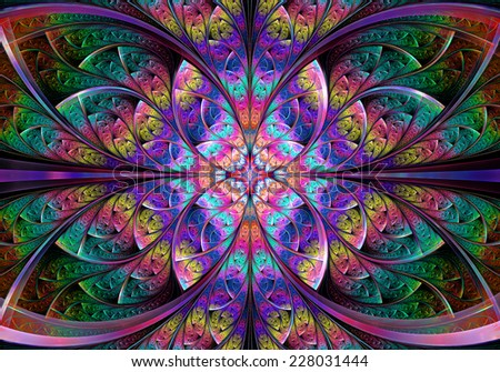 Fractal Geometry abstract - stock photo