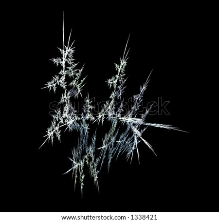 Fractal - Ice and Frost, computer generated image using the beauty of mathamatics