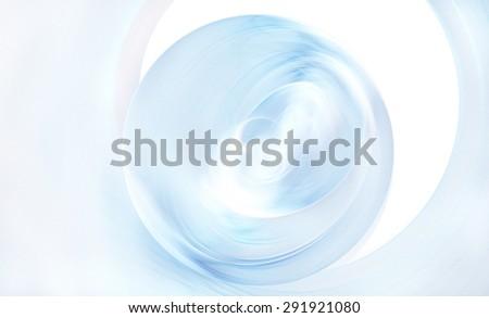 fractal illustration a transparent glass ball on a light background - stock photo