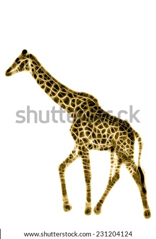 Fractal illustration of a Giraffe