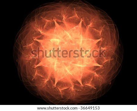fractal illustration of color object on black