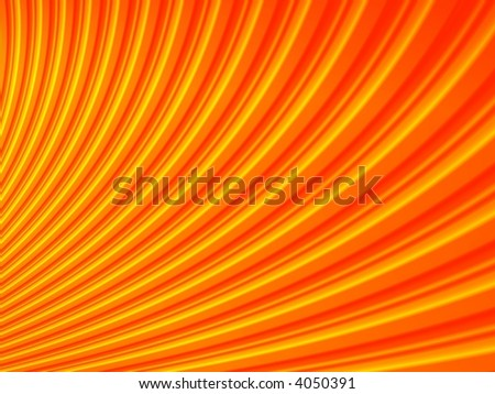 Fractal image of an abstract  orange and red corrugated pattern.