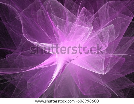 fractal purple flower - abstract background