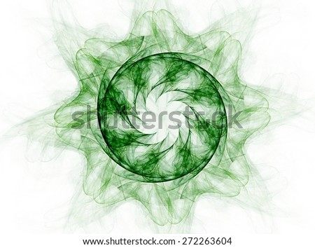 fractal radial pattern on the subject of science, technology and design - stock photo