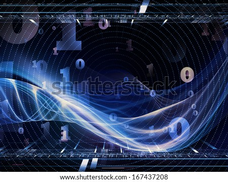 Fractal Realms series. Artistic background made of fractal elements, grids  and symbols for use with projects on education, science and technology - stock photo