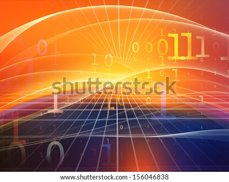 Fractal Realms series. Composition of fractal elements, grids  and symbols suitable as a backdrop for the projects on education, science and technology - stock photo