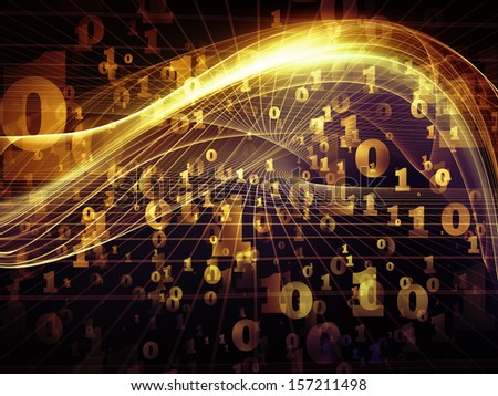 Fractal Realms series. Composition of fractal elements, grids  and symbols with metaphorical relationship to education, science and technology - stock photo