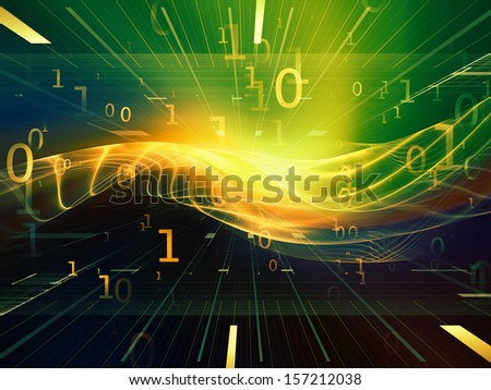 Fractal Realms series. Creative arrangement of fractal elements, grids  and symbols as a concept metaphor on subject of education, science and technology - stock photo
