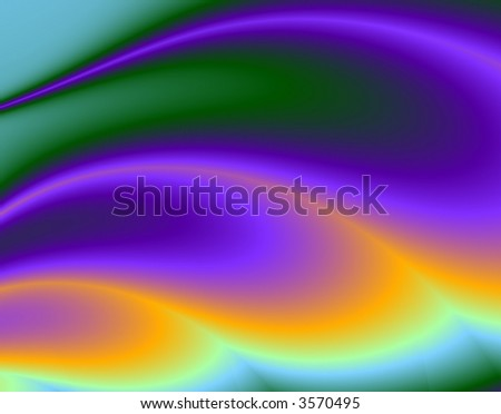 Fractal rendition of a flame blowing in the wind