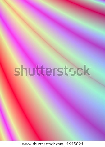 Fractal rendition of colorful curtains in back ground - stock photo