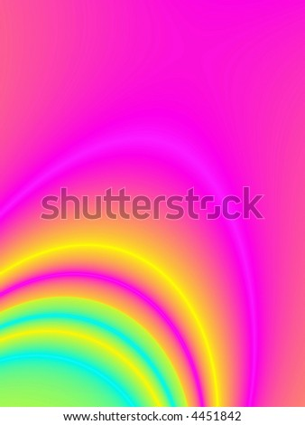 Fractal rendition of colorful smoke emerging in background