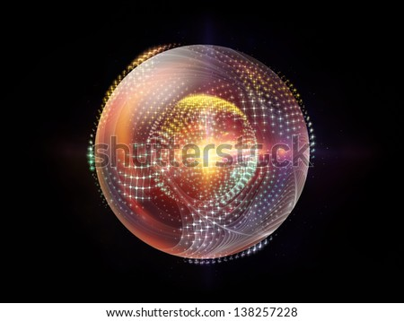 Fractal Sphere Series. Arrangement of spherical and circular fractal elements on the subject of abstraction, graphic design and modern technology - stock photo