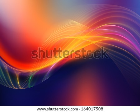 Fractal Wave series. Backdrop of  fractal sine waves and color to complement your design on the subject of design, mathematics and modern technologies - stock photo