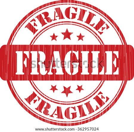 Fragile grunge stamp. - stock photo
