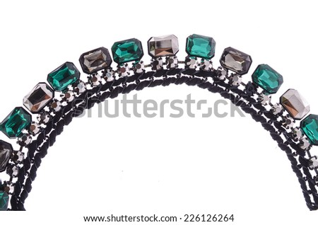 fragment necklace on a white background - stock photo