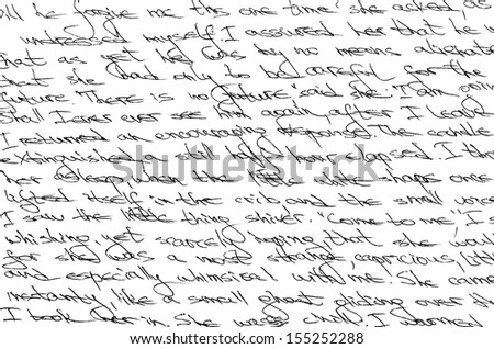 Fragment of a handwritten letter. Can be used for a background. - stock photo