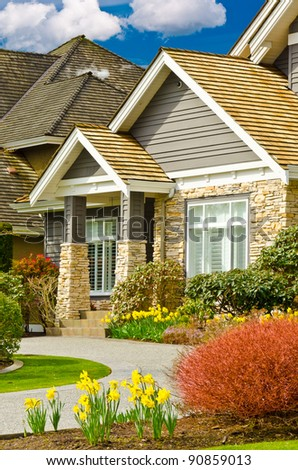Fragment of a nice house. - stock photo