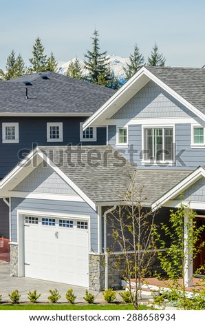 Fragment of a nice house in Vancouver, Canada. - stock photo