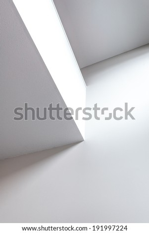 Fragment of abstract architecture interior, exterior building construction design. - stock photo