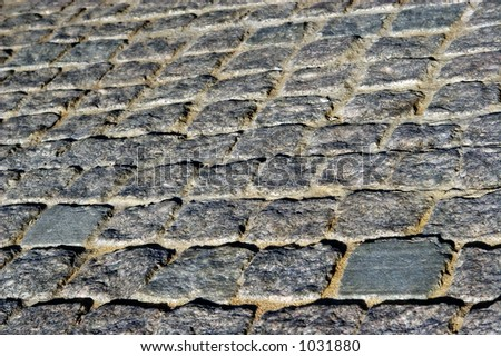 Fragment of an ancient roadway - stock photo