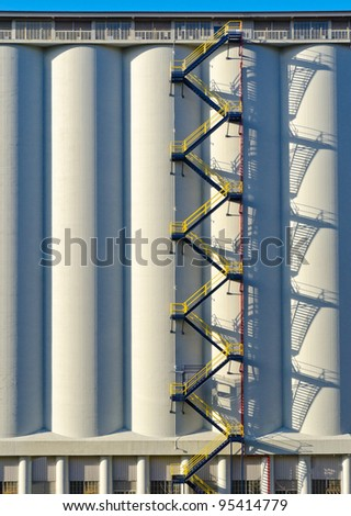 Fragment of an industrial building. - stock photo
