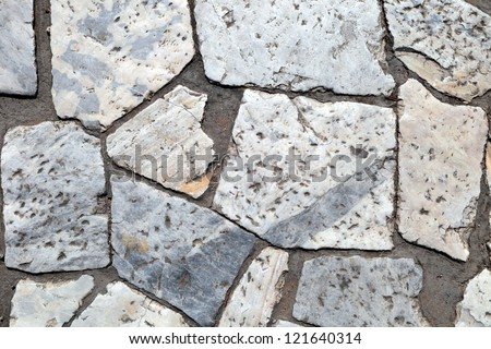 Fragment of an old brick - stock photo