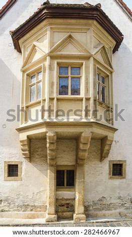 Fragment of an Old Building in the City of Szekesfehervar, Hungary