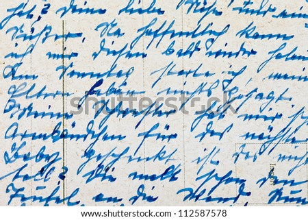 Fragment of an old handwritten letter, written in German. Can be used for background. - stock photo