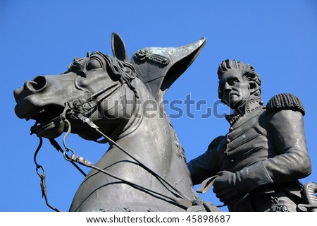 Fragment of Andrew Jackson Monument in Jacksonville, Florida - stock photo