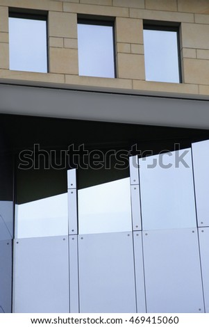 Fragment Contemporary Building Made Glass Stone Stock Photo (Royalty ...
