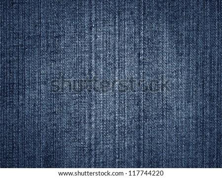 Fragment of jeans - stock photo