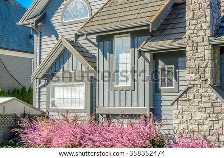 Fragment of luxury house in Vancouver,  Canada. - stock photo