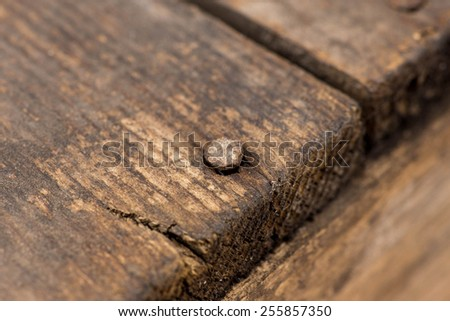 Fragment of old wooden table - stock photo