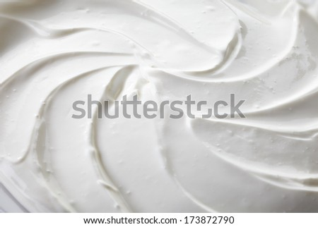 fragment of sour cream background - stock photo