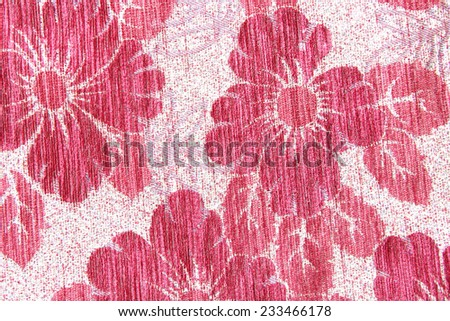 Fragment of tapestry pattern with floral background;Fragment of colorful retro tapestry textile pattern with floral ornament useful as background - stock photo