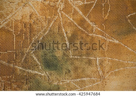 Fragment of the picture for the abstract artistic background. Selective focus. Shallow depth of field. - stock photo
