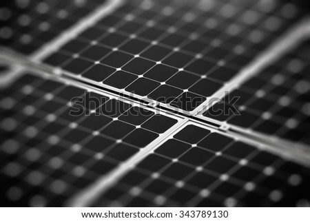 Fragment of the solar battery - stock photo